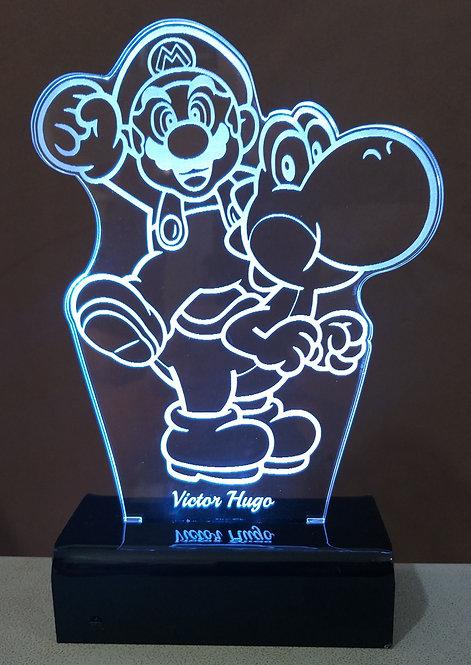 Luminária Led 3D Super Mário Bros