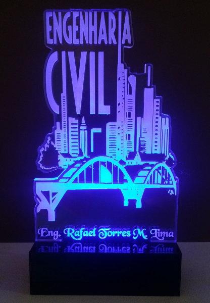Luminária Abajur Profissões Engenharia Civil