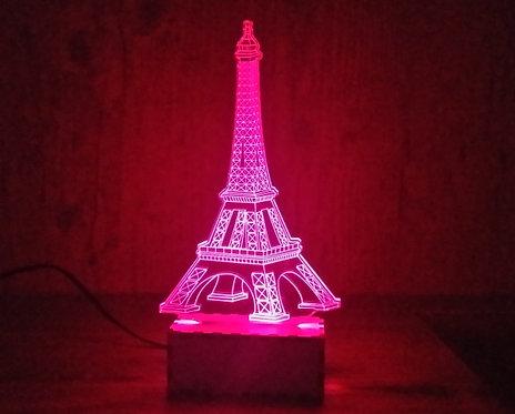 Luminária Abajur Monumentos Torre Eiffel