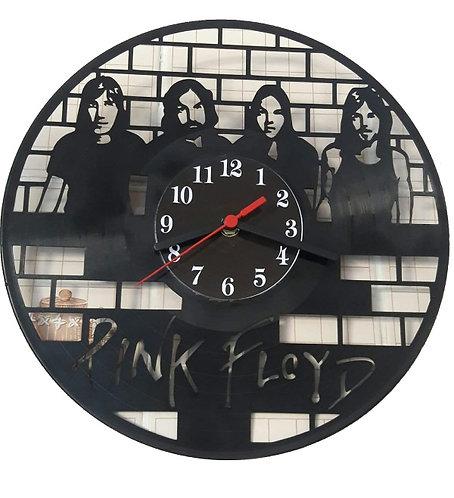 Relógio de parede em disco de vinil Pink Floyd
