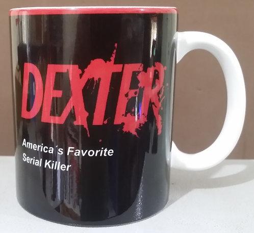 Caneca de cerêmica personalizada Dexter