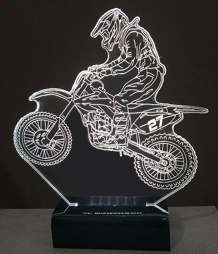 Luminária de mesa LED Motocross