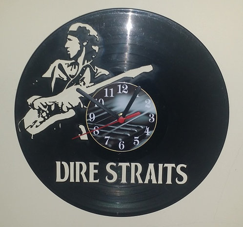 Relógio de parede em disco de vinil Dire Straits