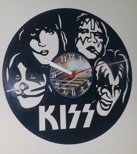 Relógio em disco de Vinil Banda Kiss