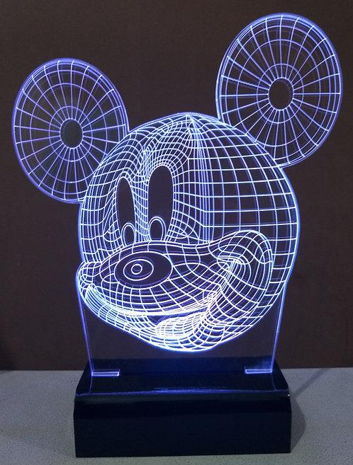 Luminária Led 3D Mickey Mouse