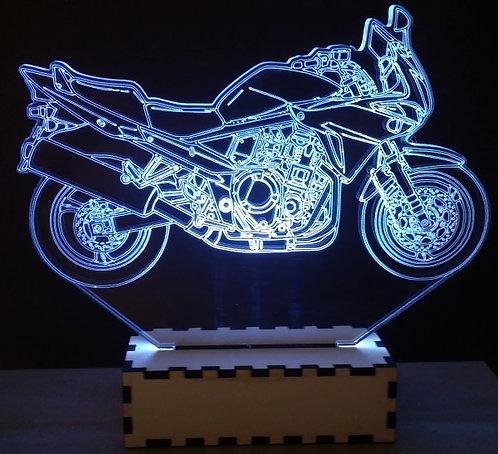 Luminária Abajur Moto Suzuki Bandit