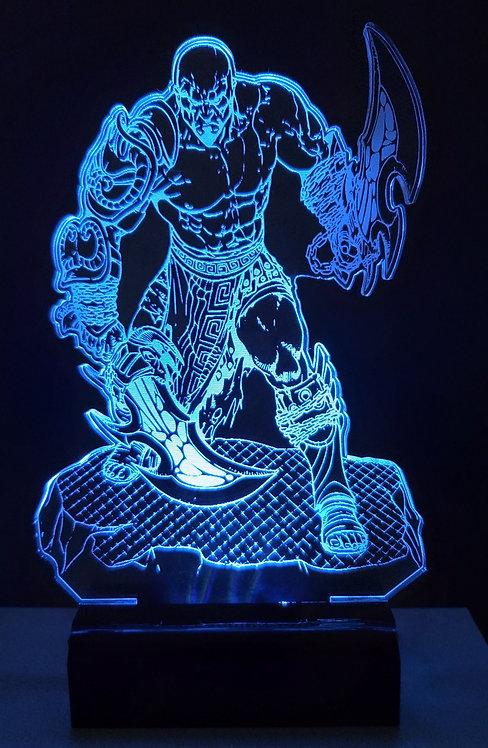 Luminária Led 3D Kratos League Of Legends