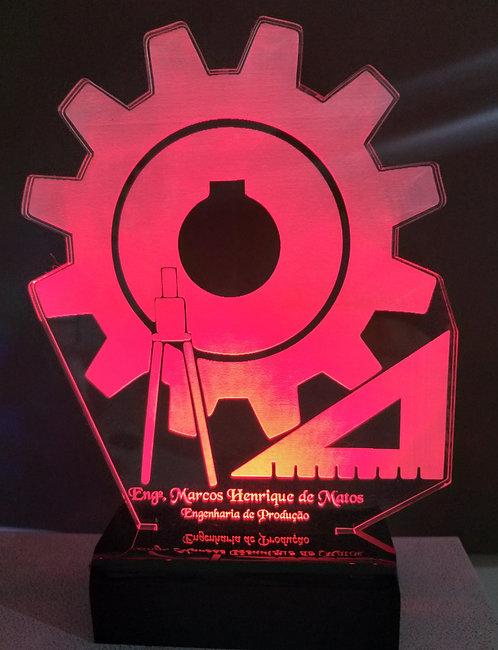 Luminária Led 3D Engenharia de Produção