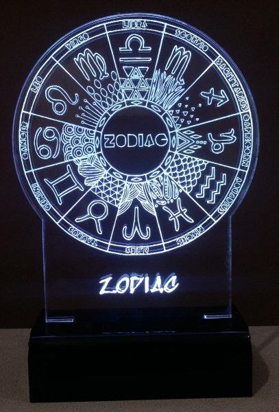 Luminária LED signos do zodiaco