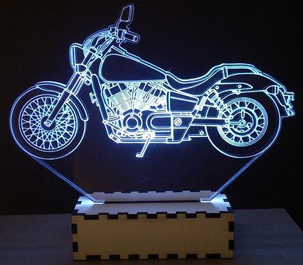 Luminária Abajur Moto Honda Shadow