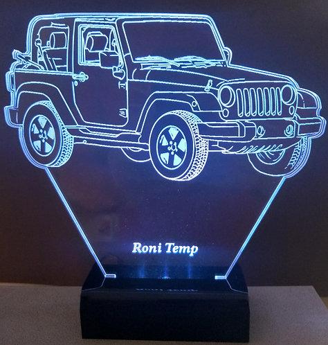 Luminária Led 3D Jeep Wrangler