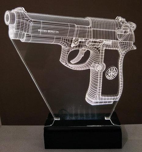 Luminária LED Pistola Beretta