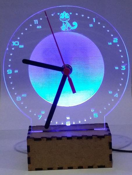 Luminária Abajur Relógio