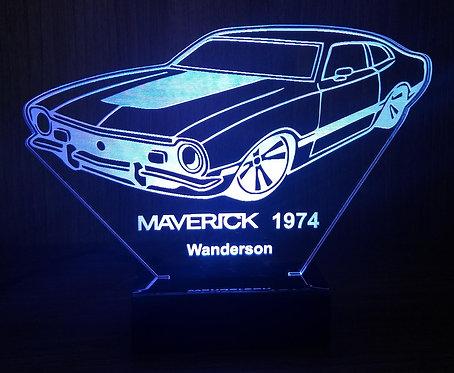 Luminária LED 3D Ford Maverick