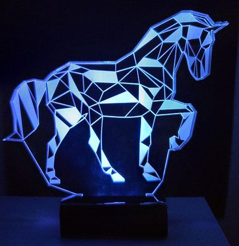 Luminária LED 3D Cavalo