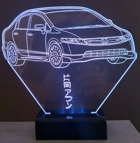 Luminária Led 3D Honda civic