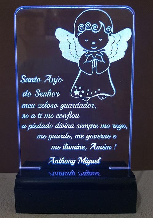 Luminária de mesa Abajur Led Oração Santo Anjo