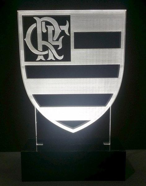 Luminária Abajur Time Flamengo