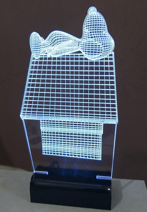 Luminária Led 3D Snoopy
