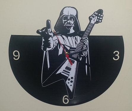 Relógio de parede em disco de vinil Dart Vader