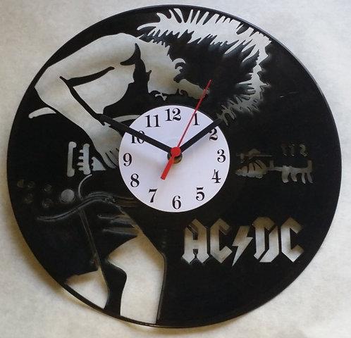 Relógio de parede em disco de vinil AC/DC