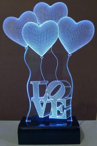 Luminária Balões Love