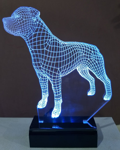 Luminária LED cão Hotweiler