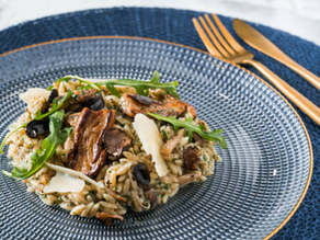 Gourmet Risotto with Leeks, Shiitake Mushrooms, and Truffles