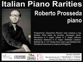Italian Piano Rarities - Online Concert by Roberto Prosseda, Pianist