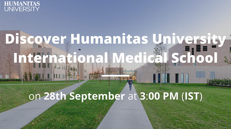 Webinar on Medicine by Humanitas University (International Medical School) for TSRS