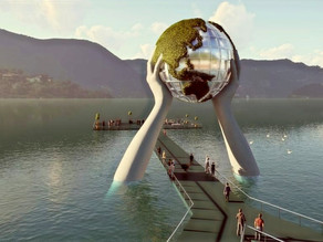 On the Shores of Lake Iseo, A Stunning Giant Installation Is in the Works
