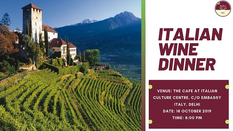 Italian Wine Dinner I The Cafe, Delhi I 18 October 2019