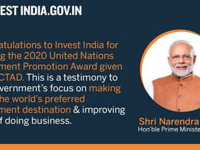 PM Narendra Modi hails 'Invest India' for winning United Nations Investment Promotion Award 2020