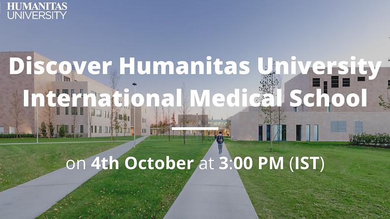 Webinar on Medicine by Humanitas University (International Medical School) for TPS