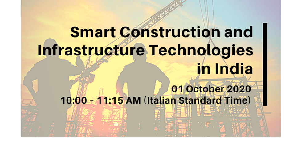 Smart Construction and Infrastructure Technologies in India