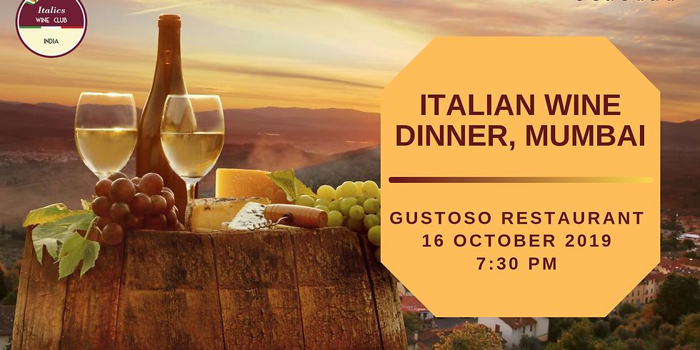 Italian Wine Dinner   Gustoso, Mumbai   16 October 2019