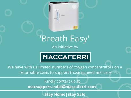 Maccaferri India's CSR Initiative 'Breath Easy' towards COVID care
