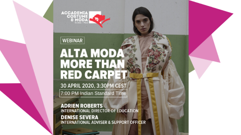 ALTA MODA MORE THAN RED CARPET : ACM MASTER'S WEBINAR