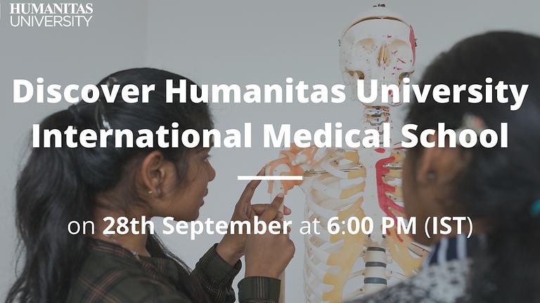 Open Webinar on Medicine by Humanitas University (International Medical School)