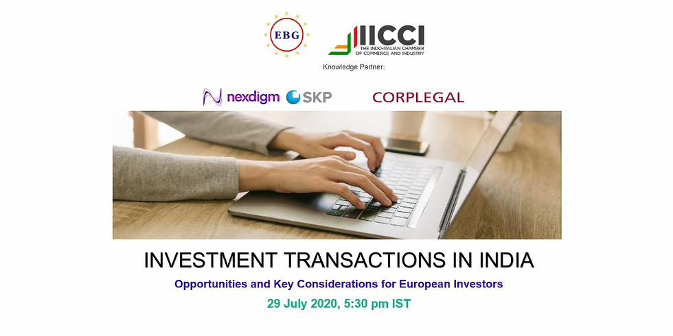 Investment Transactions in India
