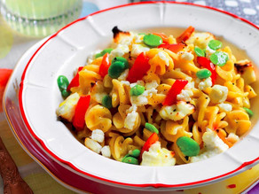 Make a Deliciously Healthy Pasta With Peppers, Fava Beans, and Ricotta