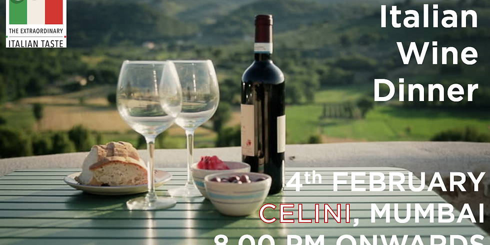 Italian Wine Dinner I Celini, Mumbai I 4th Feb