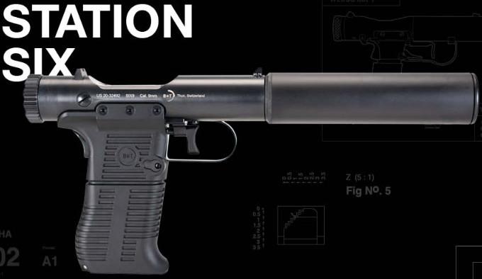Пистолет B&T Station Six сбоку
