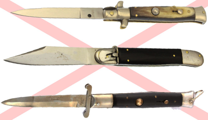 запрет выкидных ножей