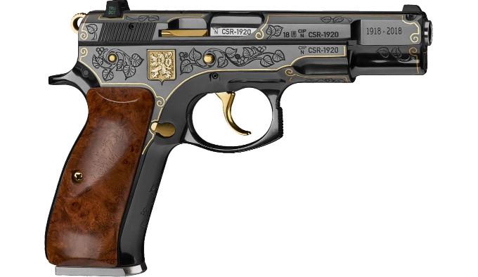 Подарочный пистолет CZ 75 Republika справа