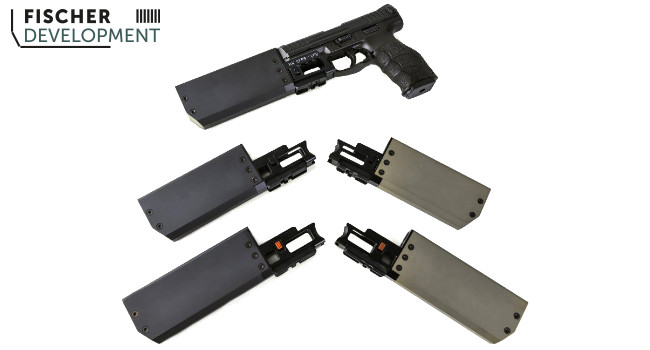 Накладные пистолетные глушители Fischer Development
