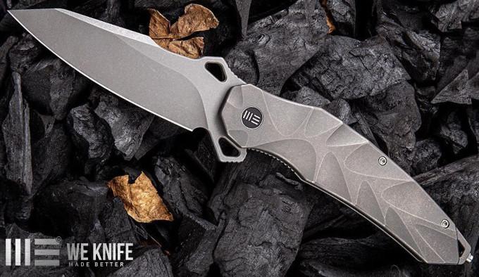 складной нож с клинком из стали CPM 20 CV и титановой рукояткой