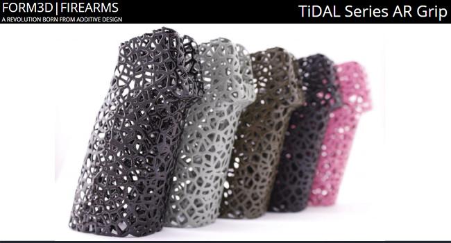 Напечатанные титановые рукоятки FORM3D TiDAL для оружия
