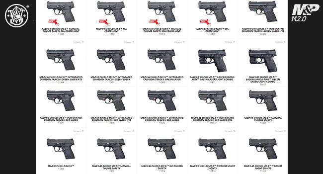 вся линейка пистолетов Smith & Wesson M&P9 Shield M2.0