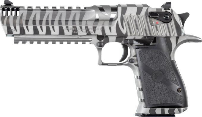 Пистолет Magnum Research White Tiger Desert Eagle слева